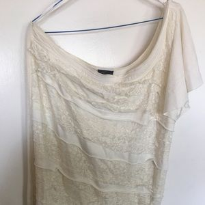One shouldered lace top